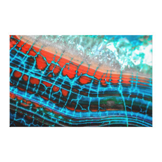 Lona abstracta del mar de la ágata de la vena del impresiones en lona estiradas