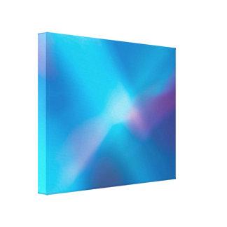 Lona abstracta ligera que brilla intensamente viol lona estirada galerías