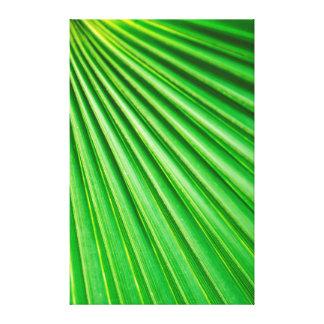 Lona abstracta verde de la fan de la planta de la  impresión en lienzo estirada