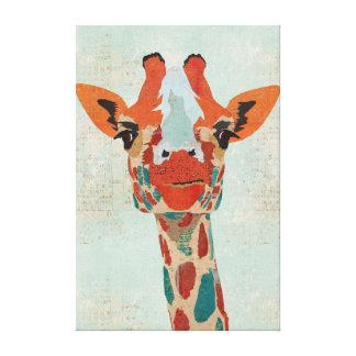 Lona ambarina de la jirafa que mira a escondidas impresión en lona estirada