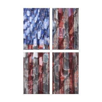 Lona americana de la pared del patio del impresiones en lienzo estiradas