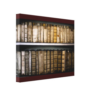Lona antigua de los libros de los atascamientos impresión en lienzo