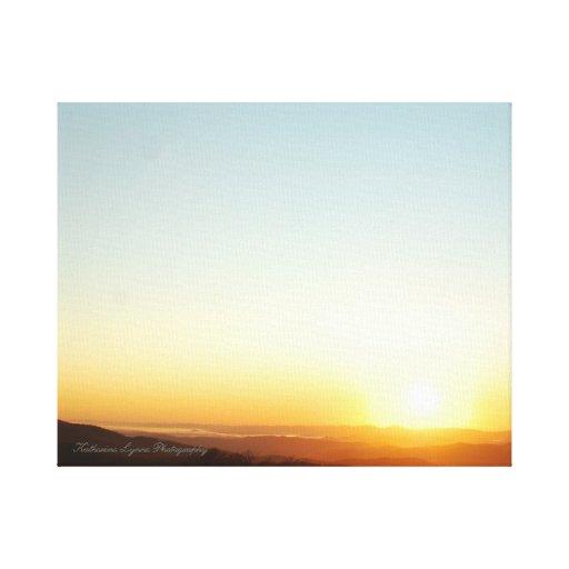 ¡Lona asombrosa de una salida del sol magnífica! Impresiones En Lona