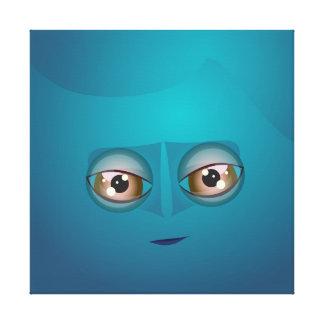 Lona azul de la burbuja de Cutie Impresion De Lienzo