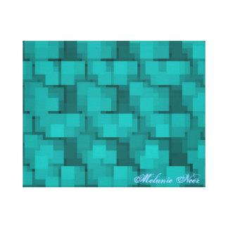 Lona azul de la impresión del mosaico de la aguama impresiones en lona estiradas