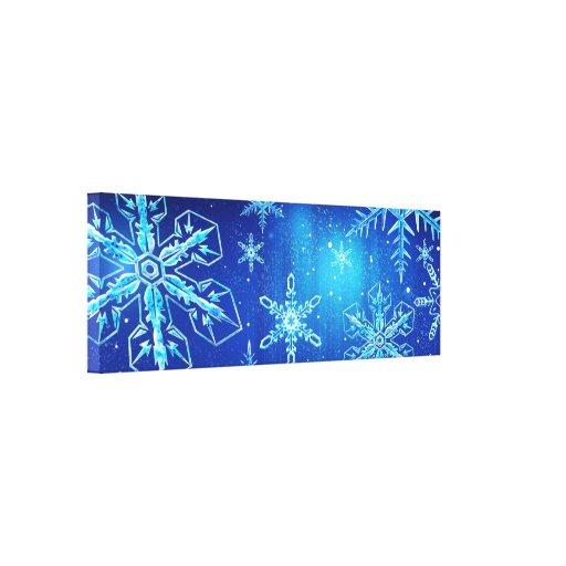 Lona azul de la nieve lona estirada galerías