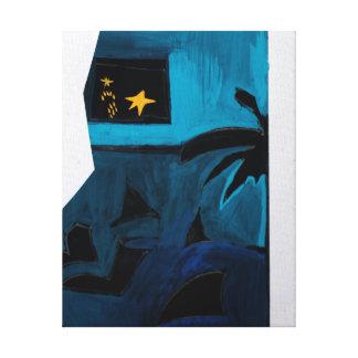 Lona azul del sitio 2 del libro del artista de lona estirada galerías