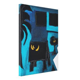 Lona azul del sitio del libro del artista de impresiones de lienzo