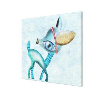 Lona azul impresión en lienzo