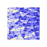 Lona azul impresiones en lona estiradas