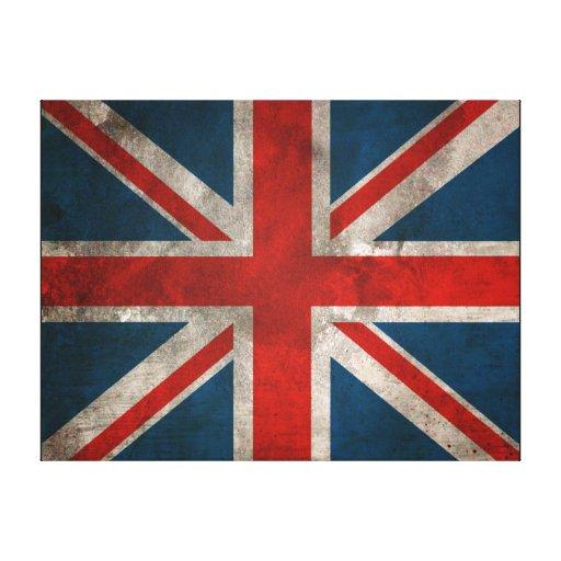 Lona británica de la pared de Union Jack Impresión De Lienzo