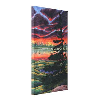 Lona canadiense de la impresión de la pintura de