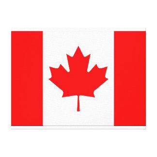 Lona canadiense de la pared de la bandera impresiones en lona estiradas