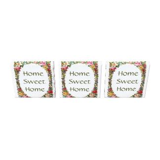 Lona casera dulce casera floral de 3 vintages impresiones en lienzo estiradas