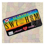 Lona casera dulce de Alabama (series del mapa) Impresiones