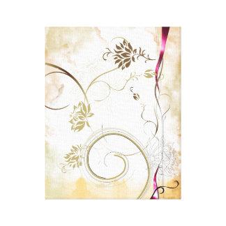 lona colorida de la flor lienzo envuelto para galerias