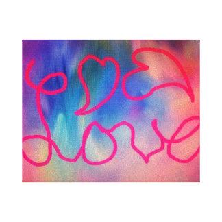 Lona colorida del amor y de los corazones impresión en lienzo estirada