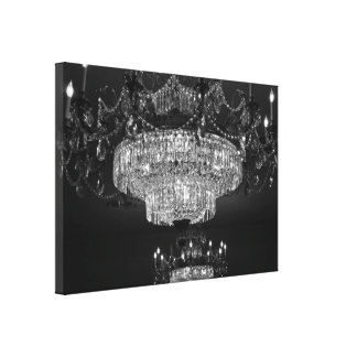 Lona cristalina de la lámpara impresión en lienzo estirada