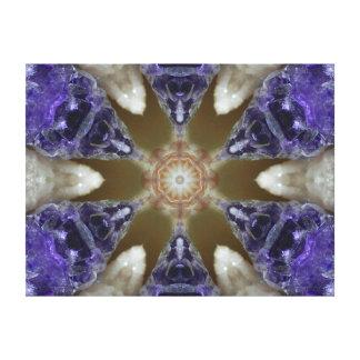 Lona cristalina de la mandala del placer Amethyst Impresión En Tela