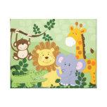 Lona de arte animal del cuarto de niños del safari impresión en tela