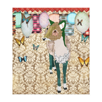 Lona de arte asiática hastiada de los ciervos impresión en lona estirada