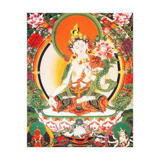 Lona de arte budista tibetana lona envuelta para galerias
