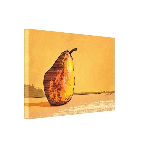 Lona de arte de oro solitaria del grabado de la pe impresiones en lona
