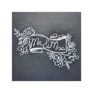 lona de arte de Sr. y de señora chalkboard Impresión En Lona Estirada