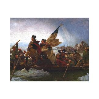 Lona de arte de Washington_Crossing_Fine Impresión En Lienzo Estirada