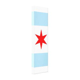 Lona de arte del panel de la bandera de Chicago Impresión En Tela