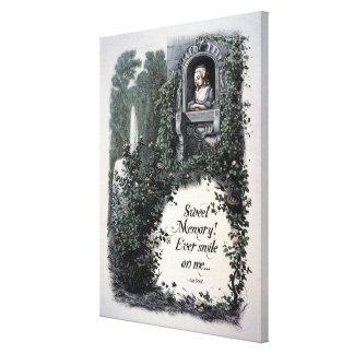 """Lona de arte del Victorian de la """"memoria dulce"""" d Lona Envuelta Para Galerías"""