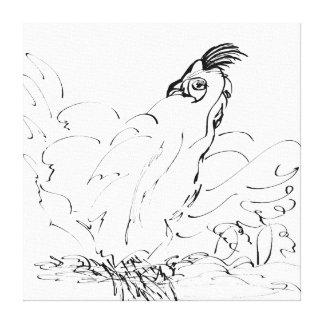 Lona de arte envuelta gallo del país - CricketDian Impresiones En Lona Estiradas