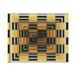 Lona de arte geométrica óptica cuadrada gris del