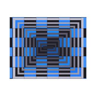 Lona de arte geométrica óptica del cuadrado del