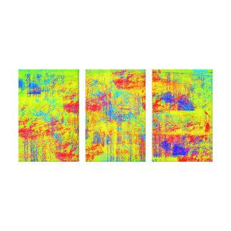 Lona de arte grande del choque chartreuse abstract impresiones en lona estiradas