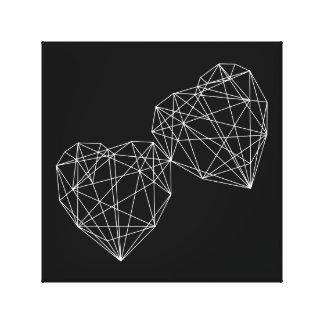 Lona de arte mínima geométrica del amor de dos