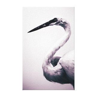 Lona de arte moderno minimalista del pájaro blanco lienzo envuelto para galerias