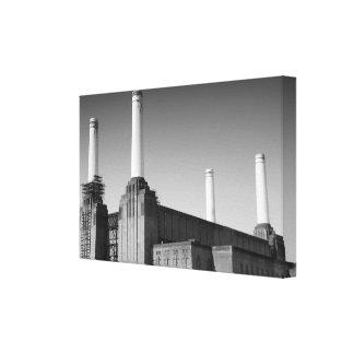 Lona de Battersea del icono de Londres Impresiones De Lienzo