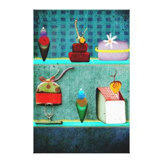 Lona de bella arte de la exhibición de los pastele