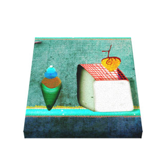 Lona de bella arte del helado de los pasteles del