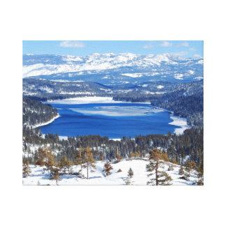 Lona de California del lago Donner Impresiones En Lona Estiradas