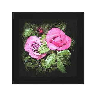 Lona de color de malva de los rosas impresión en tela