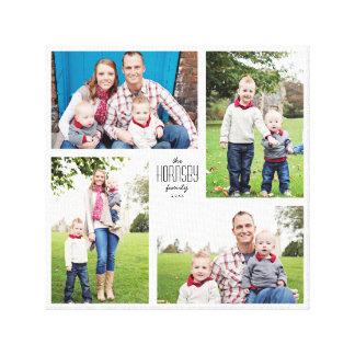 Lona de encargo cuadrada de la familia 4-Photo Impresión En Lienzo Estirada