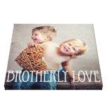 Lona de encargo de la foto del amor fraternal impresiones en lienzo estiradas