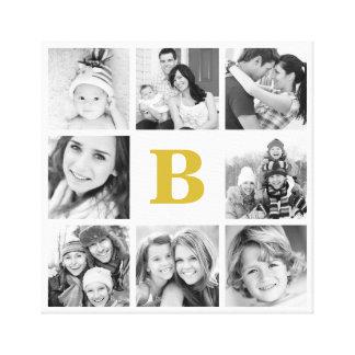 Lona de encargo del collage de la foto de familia  impresión en lienzo
