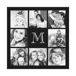 Lona de encargo del collage de la foto de familia lienzo envuelto para galerías