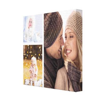 Lona de encargo del collage de la foto - marco impresión en lienzo
