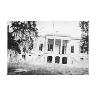 Lona de Georgia de la sabana de la plantación de l Lona Envuelta Para Galerías
