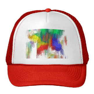 Lona de la acuarela gorras de camionero