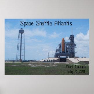 Lona de la Atlántida del transbordador espacial Posters